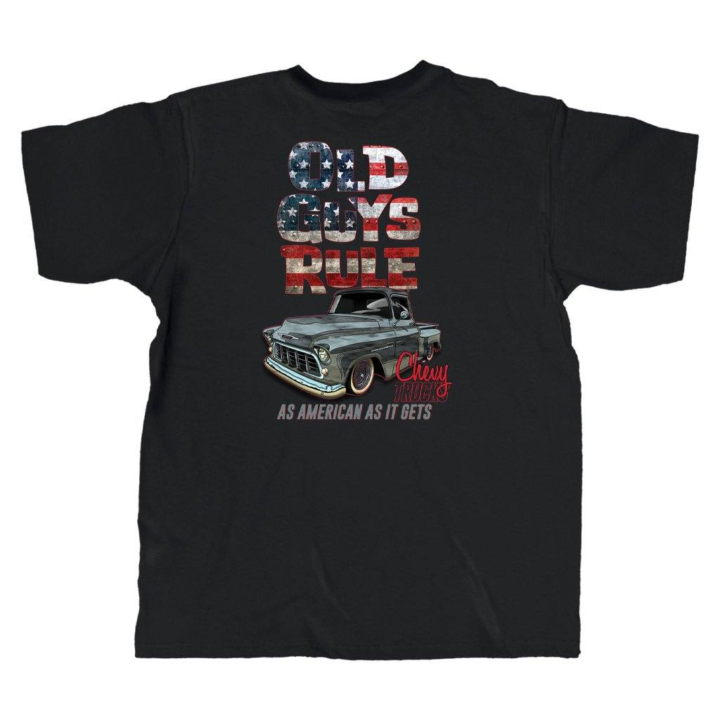 Old Guys Rule - American As It Gets - Black T-Shirt - Main View
