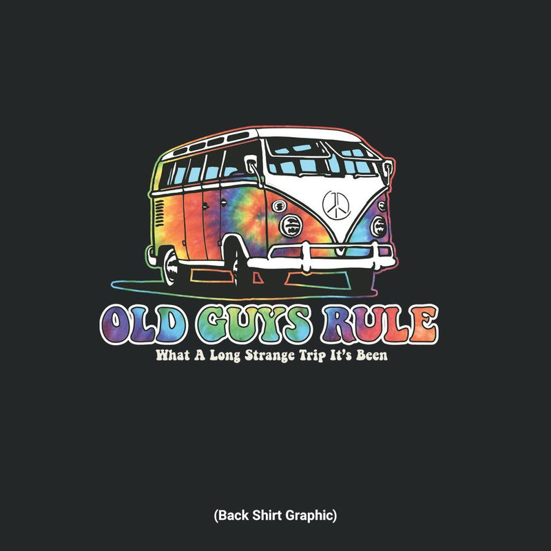 Old Guys Rule - Trippin' - Black T-Shirt - Main View