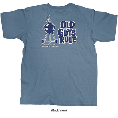 Old Guys Rule - Smokin' Hot and Seasoned to Perfection - Lake T-Shirt - Back