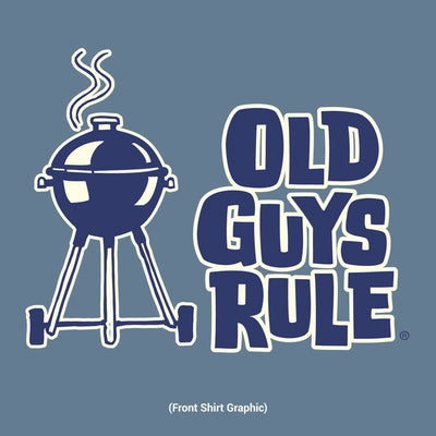 Old Guys Rule - Smokin' Hot and Seasoned to Perfection - Lake T-Shirt - Front Design