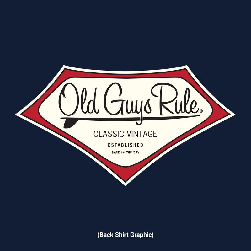 Old Guys Rule - Classic Vintage - Back In The Day - Navy T-Shirt - Main View