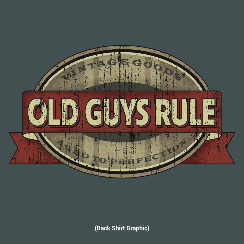 Old Guys Rule - Vintage Goods - Aged To Perfection - Dark Heather T-Shirt - Main View