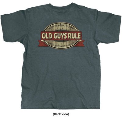 Old Guys Rule - Vintage Goods - Aged To Perfection - Dark Heather T-Shirt - Back