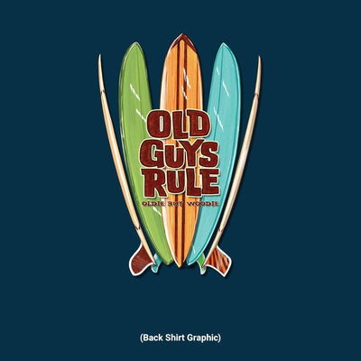Old Guys Rule - Quiver - Navy T-Shirt - Back Graphic