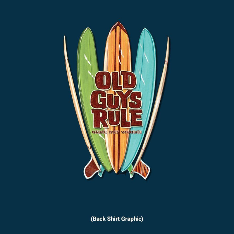 Old Guys Rule - Quiver - Navy T-Shirt - Main View