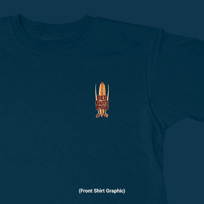 Old Guys Rule - Quiver - Navy T-Shirt - Front Graphic