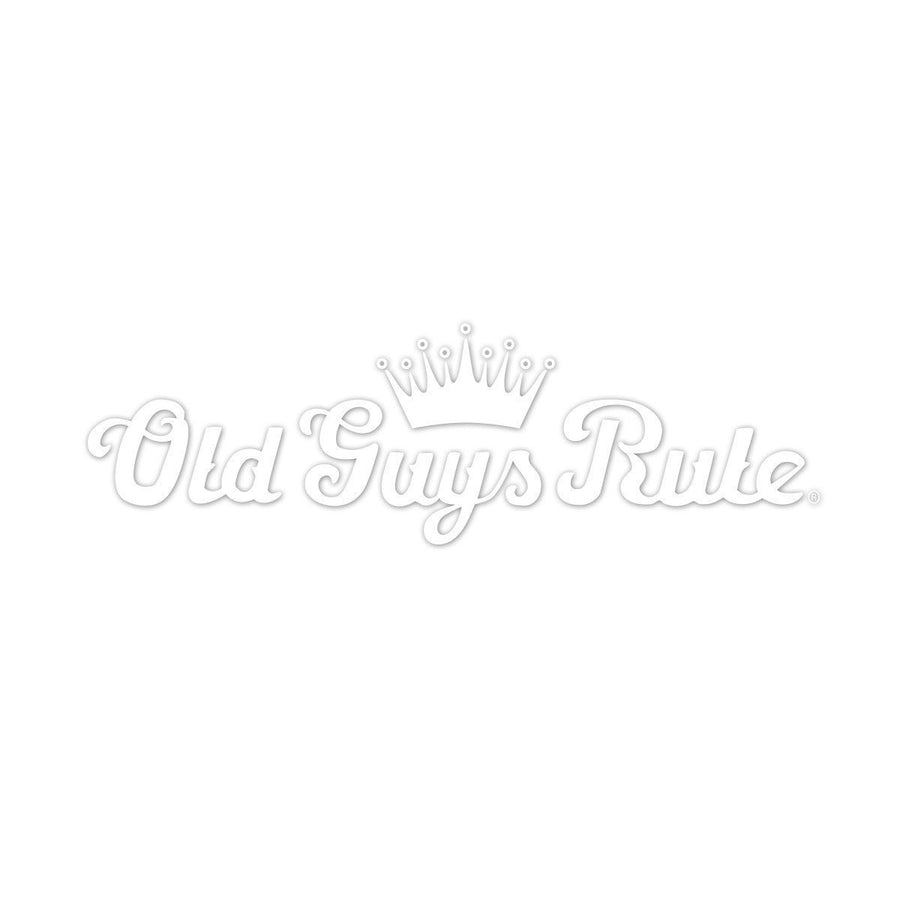 Old Guys Rule - Sticker - Crown Script