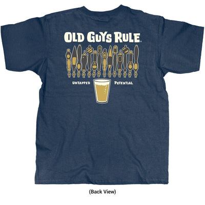 Old Guys Rule - Untapped Potential - Navy Heather T-Shirt - Back