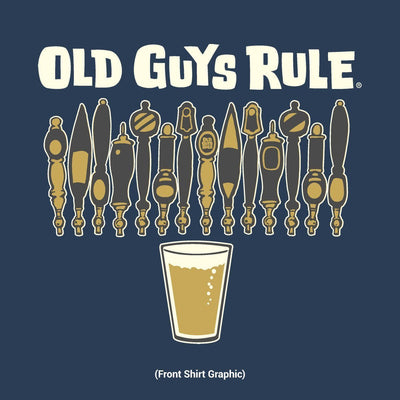 Old Guys Rule - Untapped Potential - Navy Heather T-Shirt - Front Design