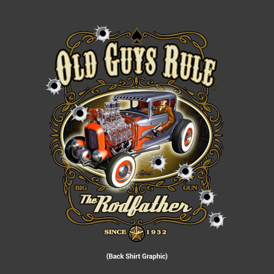 Old Guys Rule - The Rodfather - Since 1932 - Charcoal T-Shirt - Main View