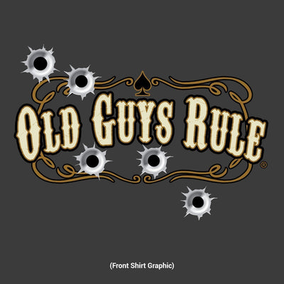 Old Guys Rule - The Rodfather - Since 1932 - Charcoal T-Shirt - Design Front