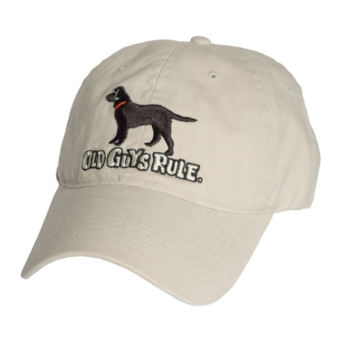 Old Guys Rule - Hat - Black Lab - Stone - Front View