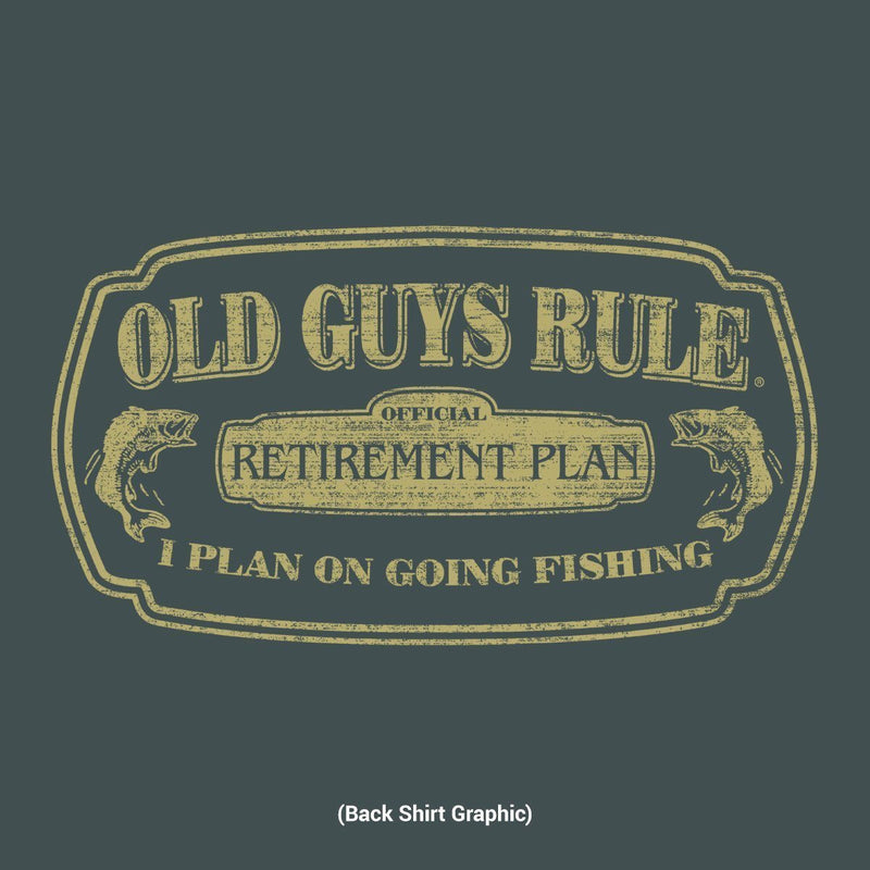 Old Guys Rule - Retirement Plan - I Plan On Going Fishing - Dark Heather T-Shirt - Main View