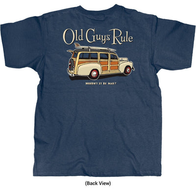 Old Guys Rule - Woodn't It Be Nice - Navy Heather T-Shirt - Back