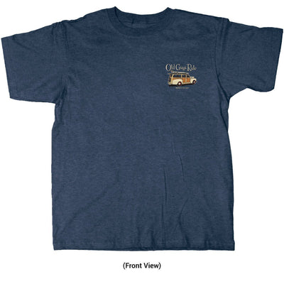 Old Guys Rule - Woodn't It Be Nice - Navy Heather T-Shirt - Front View