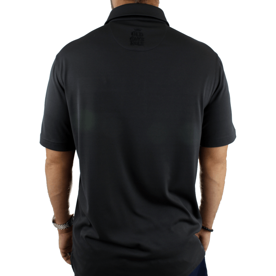 Old Guys Rule - Golf Polo Shirt - Ash - Black