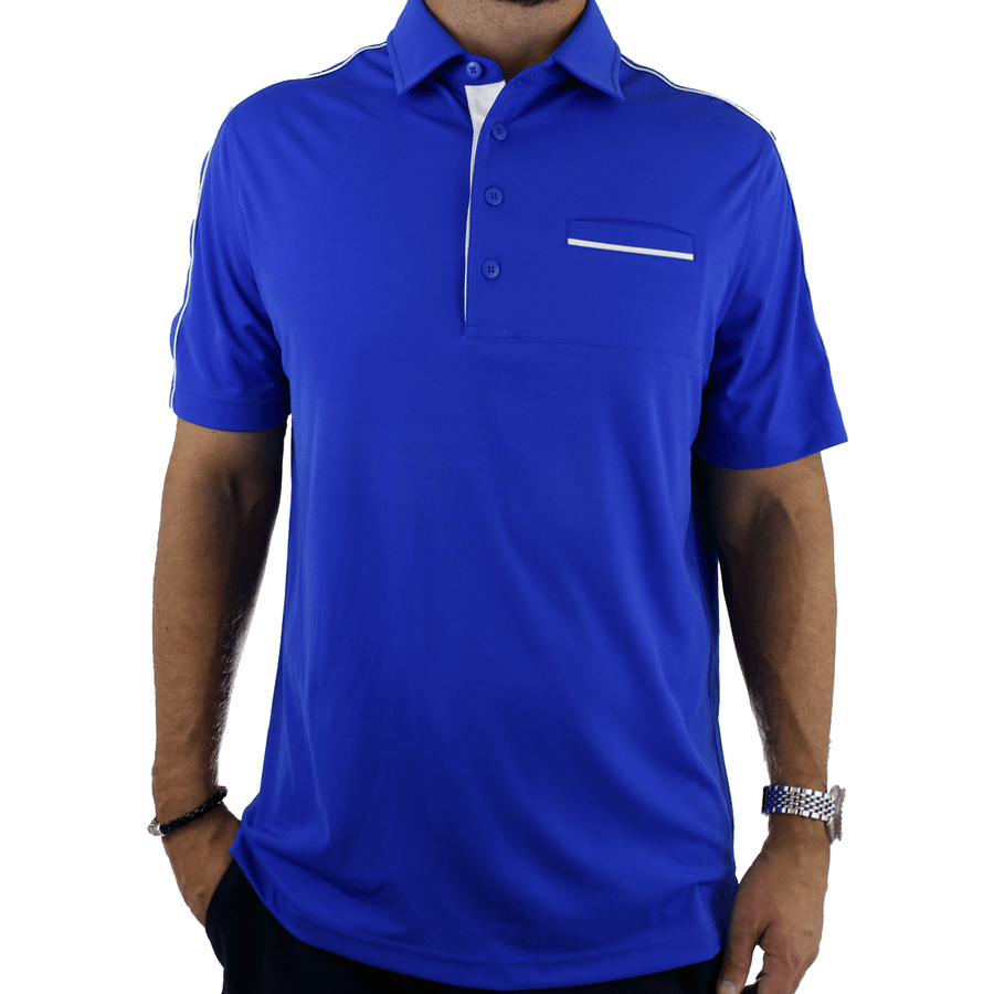 Old Guys Rule - Polo Golf Shirt - Dazzling Blue - Front