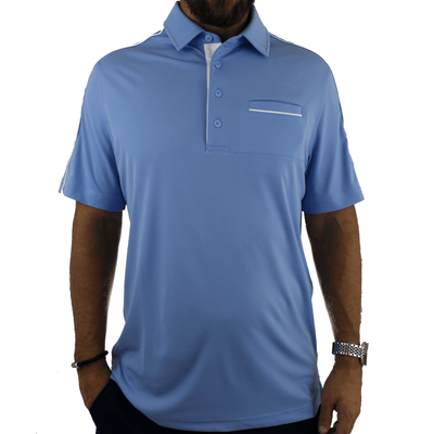 Old Guys Rule - Polo Golf Shirt - Placid Blue - Front