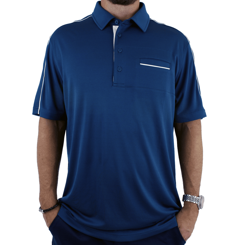 Old Guys Rule - Polo Golf Shirt - Turbulence - Front