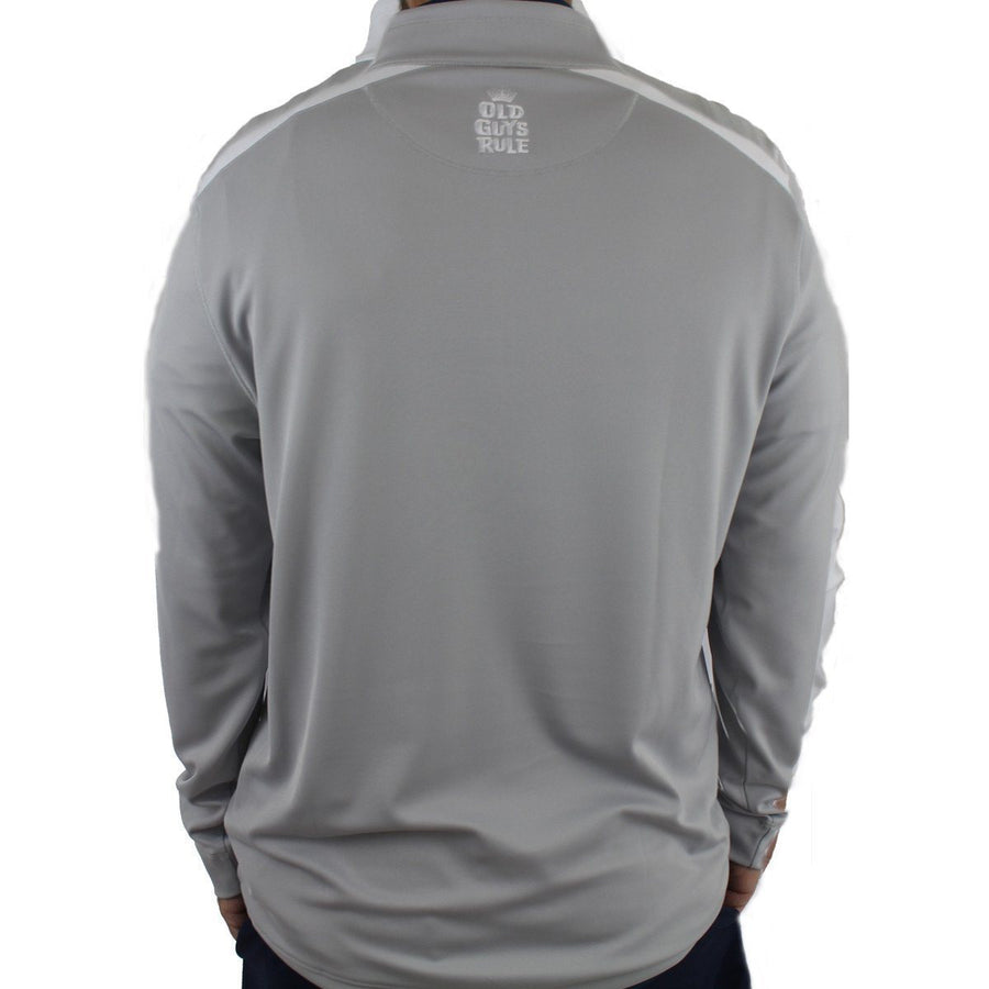Old Guys Rule - Golf Pullover - Grey and White