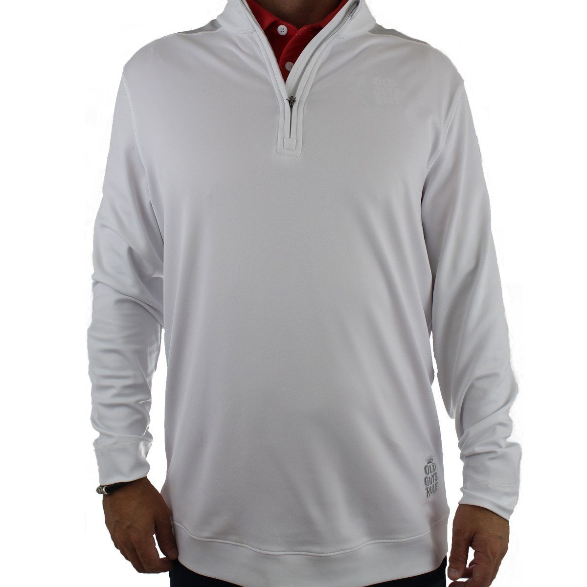Old Guys Rule - Golf Pullover - White and Grey