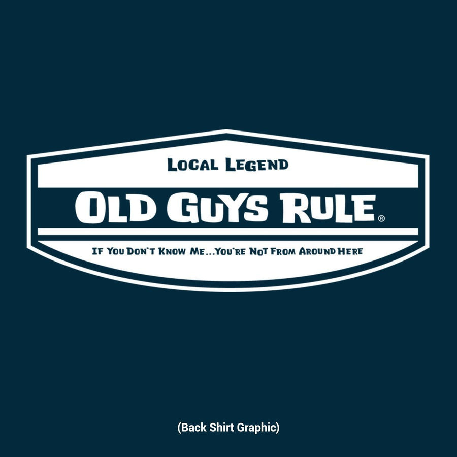 Old Guys Rule - Local Legend - Navy Blue T-Shirt - Main View 8987ce27a129