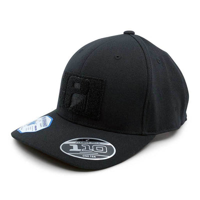 ballcap baseball snapback velcro contractor athletic PVC embroidered black grey