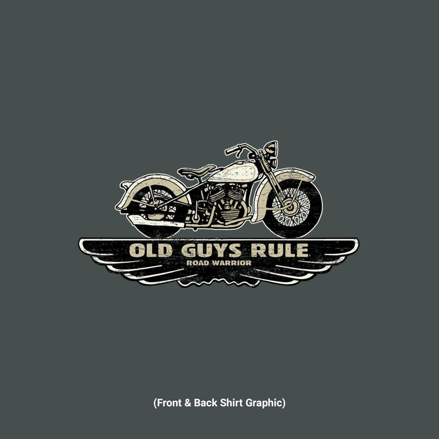 Old Guys Rule - Winged Traditions- Dark Heather T-Shirt - Main View