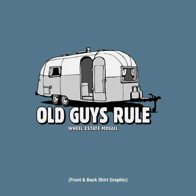 Old Guys Rule - Wheel Estate - Heather Indigo T-Shirt - Design