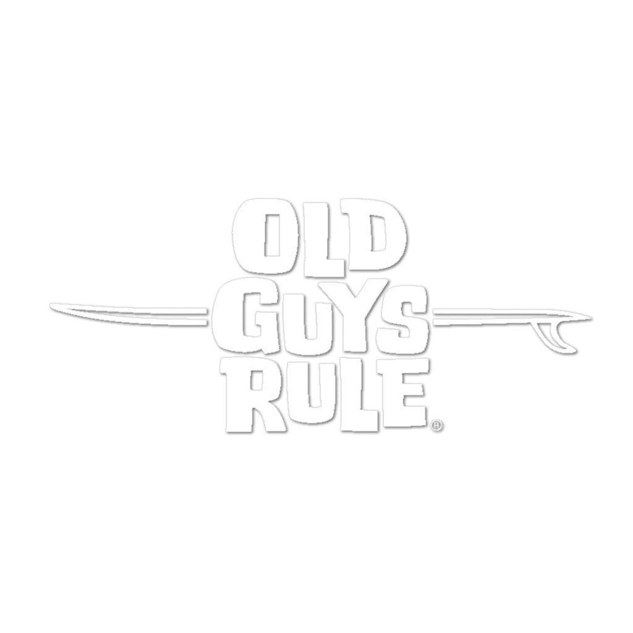 Old Guys Rule - Sticker - LB Logo (White)