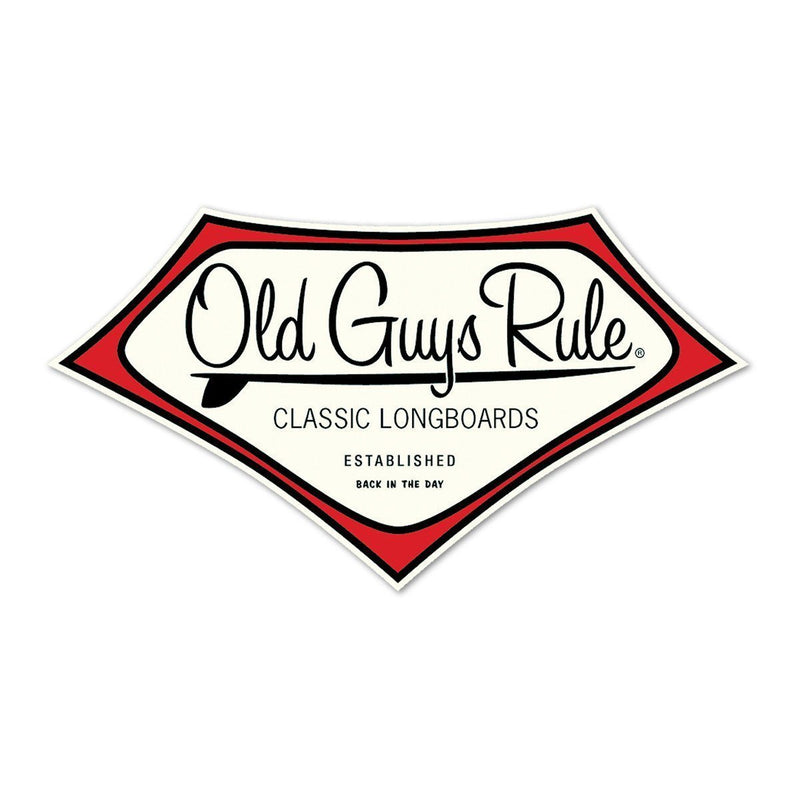 Old Guys Rule - Sticker - Classic Vintage