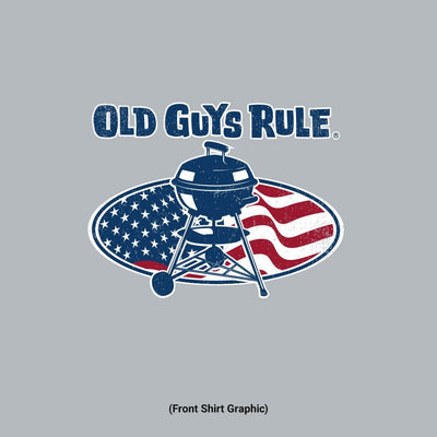 Old Guys Rule - BBQ Legend - Rare and Well Done - Sport Grey T-Shirt - Front Graphic