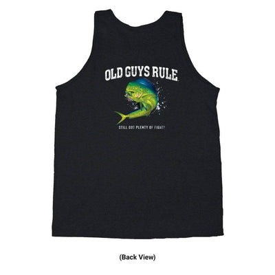 Old Guys Rule - Old Guys Rule Tank Top -Plenty Of Fight - Plenty Of Fight - Old Guys Rule Tank Top -Plenty Of Fight - Still Got Plenty Of Fight - Black Tank Top - Back View
