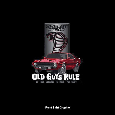 Old Guys Rule - Shelby Look Good - It Took Decades To Look This Good - Black Tank Top - Front Graphic