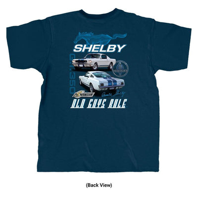 Old Guys Rule - Shelby 350 - Navy T-Shirt - Back View