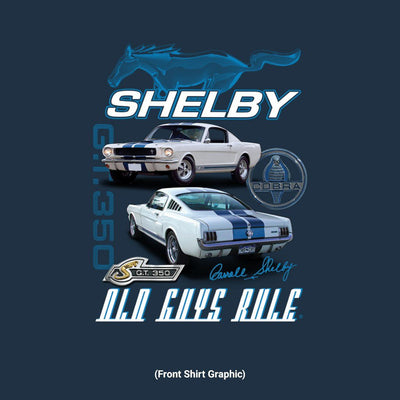 Old Guys Rule - Shelby 350 - Navy T-Shirt - Front Graphic