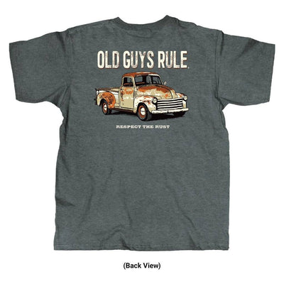 Old Guys Rule - Respect The Rust - Sport Grey T-Shirt - Back View