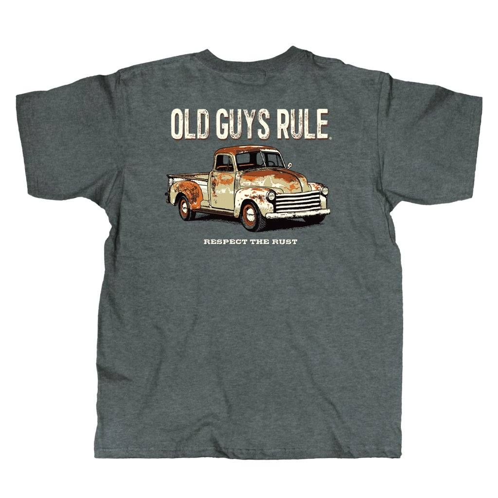 Old Guys Rule - Respect The Rust - Sport Grey T-Shirt - Main View