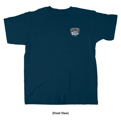 Old Guys Rule - Still Hookin' Up - Navy T-Shirt - Front View