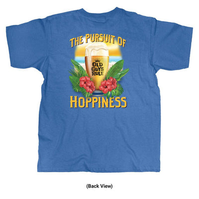 Old Guys Rule - Hoppiness - Iris T-Shirt - Back View