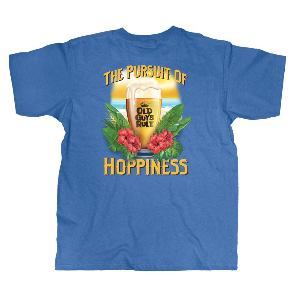 Old Guys Rule - Hoppiness - Iris T-Shirt - Main View