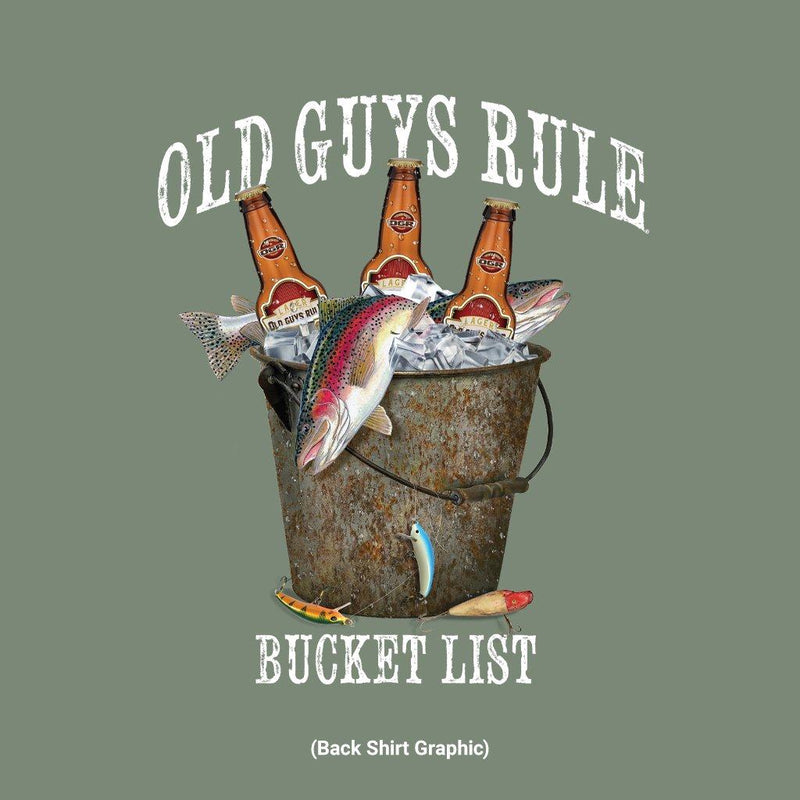 Old Guys Rule - Fresh Bucket List - Heather Green T-Shirt - Main View