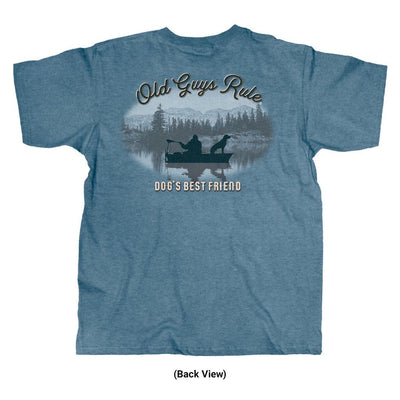 Old Guys Rule - Dog's Best Friend - Heather Indigo T-Shirt - Back View