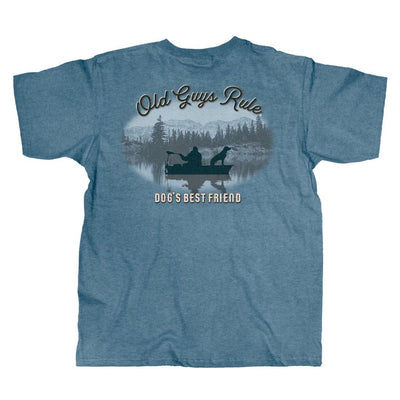 Old Guys Rule - Dog's Best Friend - Heather Indigo T-Shirt - Main View