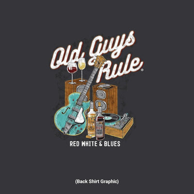 Old Guys Rule - Red White & Blues - Black - Back Graphic