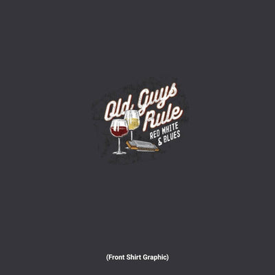 Old Guys Rule - Red White & Blues - Black - Front Graphic