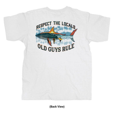 Old Guys Rule - Local Respect - White T-Shirt - Back View