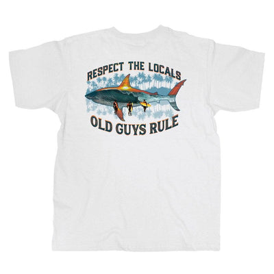 Old Guys Rule - Local Respect - White T-Shirt - Main View