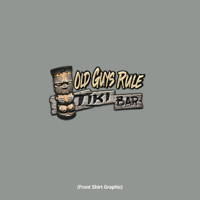 Old Guys Rule - Tiki Bar - Gravel T-Shirt - Back Graphic