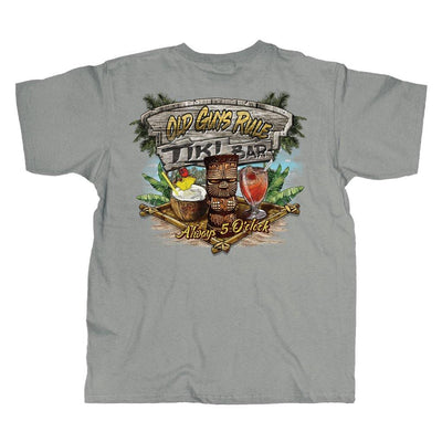 Old Guys Rule - Tiki Bar - Gravel T-Shirt - Main View